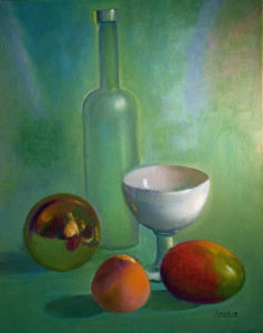 Peachy Still Life